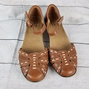 Clarks Collection Closed Toe Mary Janes Sz 6.5